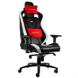 Игровое Кресло Noblechairs EPIC (NBL-RL-EPC-001) Real Leather / black/white/red