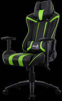 Игровое Кресло Aerocool AC120 AIR-BG black/green - фото 16019