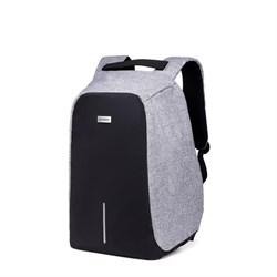 Рюкзак для ноутбука 15,6 дюйма SEASONS антивандальный MSP3010, серый - фото 16148