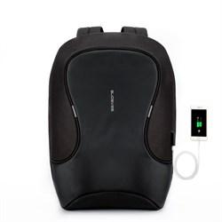 Рюкзак для ноутбука 15,6 дюйма SEASONS антивандальный MSP3721 с USB портом, черный - фото 16154