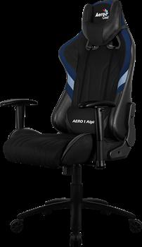 Игровое Кресло Aerocool AERO 1 Alpha black/blue - фото 16716
