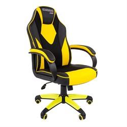 Кресло компьютерное Chairman game 17 черный, желтый - фото 16828
