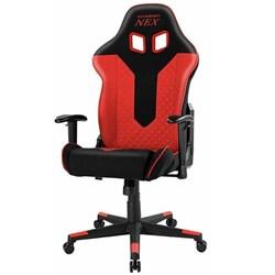 Компьютерное кресло DXRacer NEX EC/OK01/NR Черный, красный, текстиль+экокожа - фото 17224