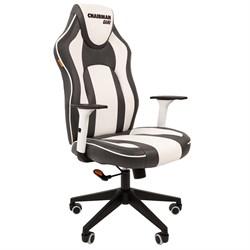 Кресло компьютерное Chairman game 23 черный, белый - фото 17347