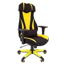 Кресло компьютерное Chairman game 14 черный, желтый - фото 17654