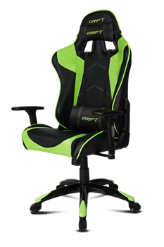 Игровое Кресло DRIFT DR300 PU Leather / black/green - фото 18057
