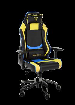 Кресло компьютерное игровое ZONE 51 Cyberpunk Желтый/Голубой - фото 18779