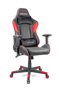 Компьютерное игровое кресло EVOLUTION  TACTIC 2 BLACK/RED - фото 19136