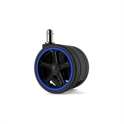 """Колеса для игровых кресел Vertagear 65 мм/2.5"""" АвтоБлок (Blue) 1 set (5 шт)"""