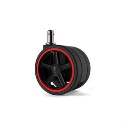 """Колеса для игровых кресел Vertagear 65 мм/2.5"""" АвтоБлок (Red) 1 set (5 шт)"""