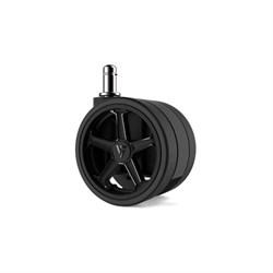 """Колеса для игровых кресел Vertagear 75 мм/3"""" АвтоБлок (Black) 1 set (5 шт) - фото 6653"""