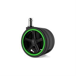 """Колеса для игровых кресел Vertagear 75 мм/3"""" АвтоБлок (Green) 1 set (5 шт)"""