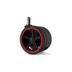 """Колеса для игровых кресел Vertagear 75 мм/3"""" АвтоБлок (Red) 1 set (5 шт)"""