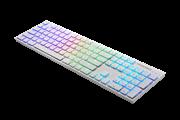 Клавиатура TESORO GRAM Spectrum XS ультра низкопрофильная (white/ blue)