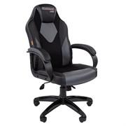 Кресло компьютерное Chairman game 17 черный, серый