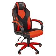 Кресло компьютерное Chairman game 17 черный, красный