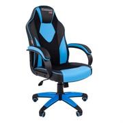 Кресло компьютерное Chairman game 17 черный, голубой