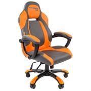 Кресло компьютерное Chairman game 20 черный, оранжевый