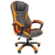 Кресло компьютерное Chairman game 22 черный, оранжевый