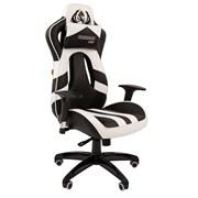 Кресло компьютерное Chairman game 25 черный, белый