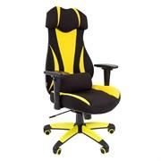 Кресло компьютерное Chairman game 14 черный, желтый