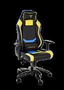 Кресло компьютерное игровое ZONE 51 Cyberpunk Желтый/Голубой