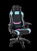 Кресло компьютерное игровое ZONE 51 Cyberpunk Голубой/Розовый
