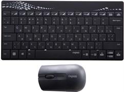 Комплект беспроводная клавиатура и мышь Rapoo 8000, Black