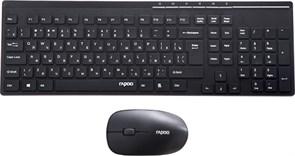 Комплект беспроводная клавиатура и мышь Rapoo X8100, Black